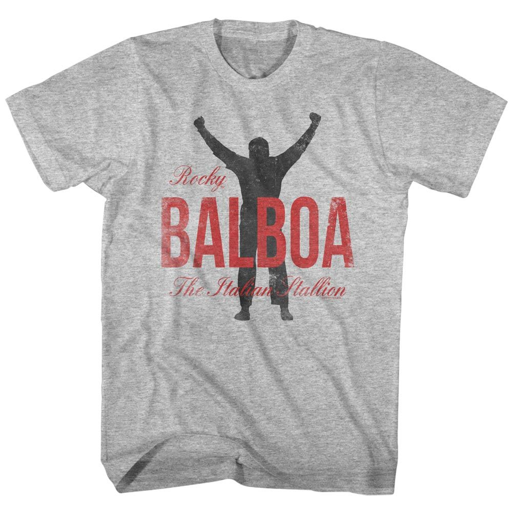 Rocky-Balboa-Gray Heather Adult S/S Tshirt