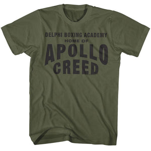 Rocky-Apollo Home-Military Green Adult S/S Tshirt