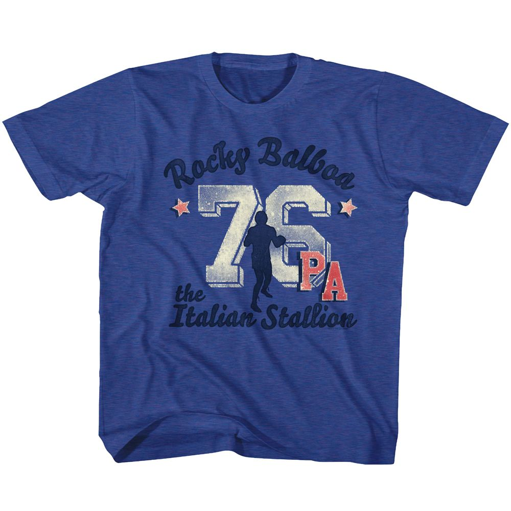 Rocky-Ath 76 Take 2-Vintage Royal Toddler-Youth S/S Tshirt