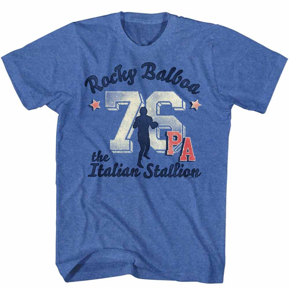 Rocky-Ath 76 Take 2-Royal Heather Adult S/S Tshirt