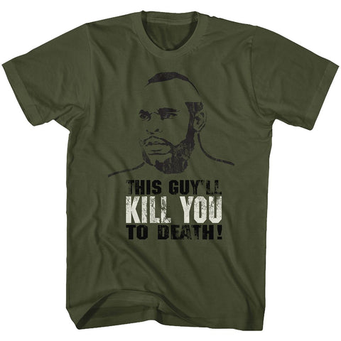Rocky-Kill You To Death-Military Green Adult S/S Tshirt