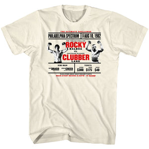 Rocky-Rocky Vs. Clubber-Natural Adult S/S Tshirt