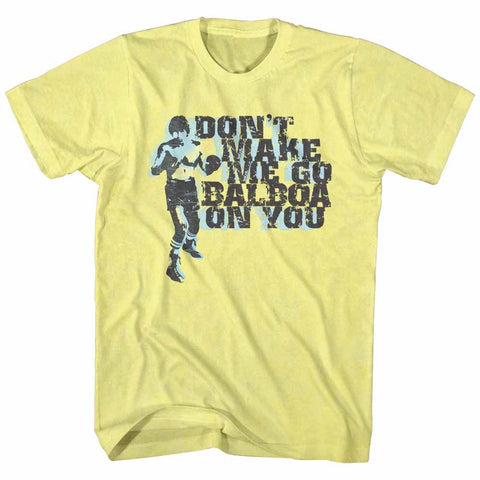 Rocky-Balboa On You-Yellow Adult S/S Tshirt