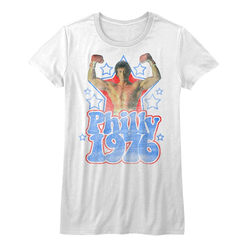 Rocky-Philly 1976-White Ladies S/S Tshirt