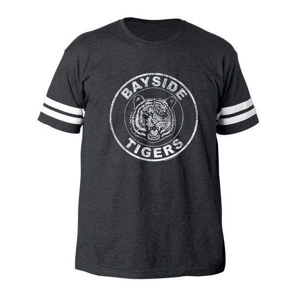 Saved By The Bell-Bayside Tigers-Vintage Smoke Adult S/S Football Tshirt - Coastline Mall