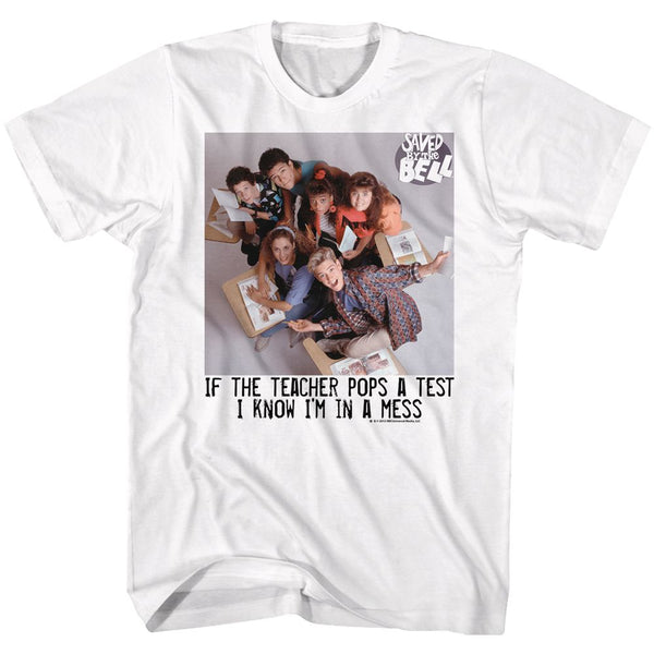 Saved By The Bell-In A Mess-White Adult S/S Tshirt - Coastline Mall