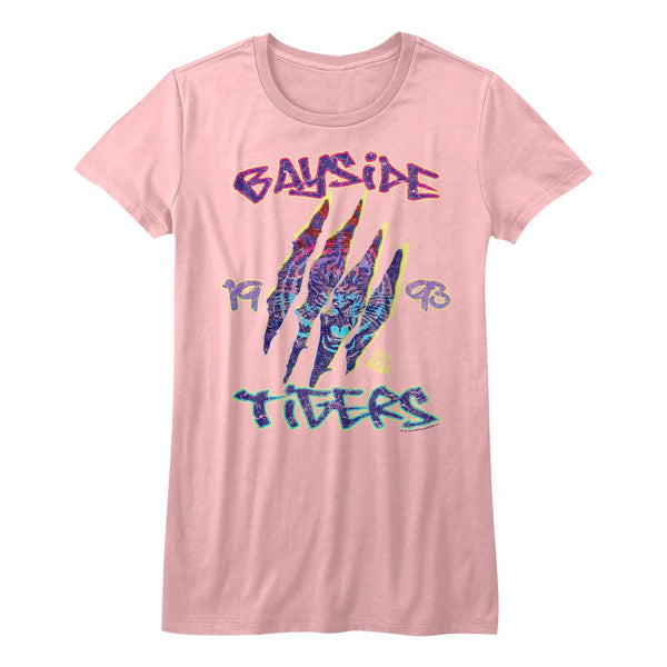 Saved By The Bell-Retro Bayside-Light Pink Juniors S/S Tshirt - Coastline Mall
