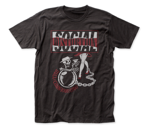 Social Distortion Ball and Chain Tour Front-Back Print fitted jersey tee