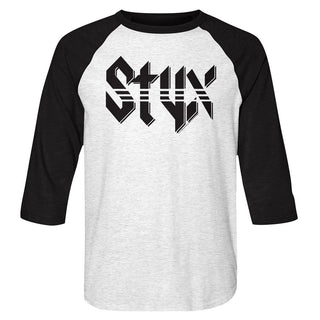 Styx-Styx-White Heather/Vintage Black Adult 3/4 Sleeve Raglan - Coastline Mall