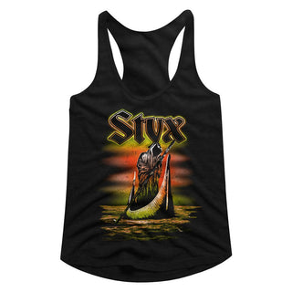 Styx-Ferryman-Black Ladies Racerback - Coastline Mall