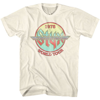 Styx-Circle Tour-Natural Adult S/S Tshirt - Coastline Mall