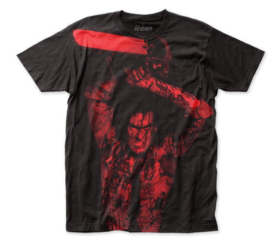 Evil Dead II Ash Williams big print subway tee