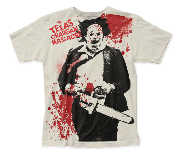 Texas Chainsaw Massacre Spatter big print subway tee