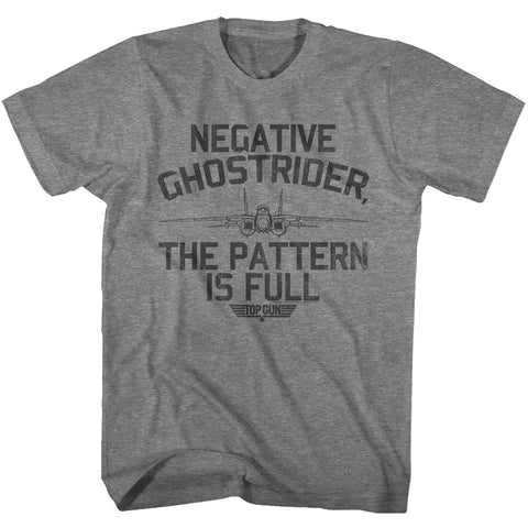 Top Gun-Negative Ghostrider-Graphite Heather Adult S/S Tshirt