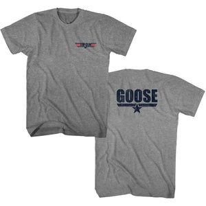 Top Gun-Goose-Graphite Heather Adult S/S Front-Back Print Tshirt