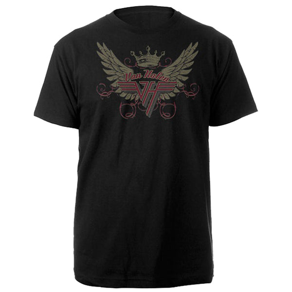 Van Halen - Wings | Black Short Sleeve Adult T-Shirt tee - Coastline Mall