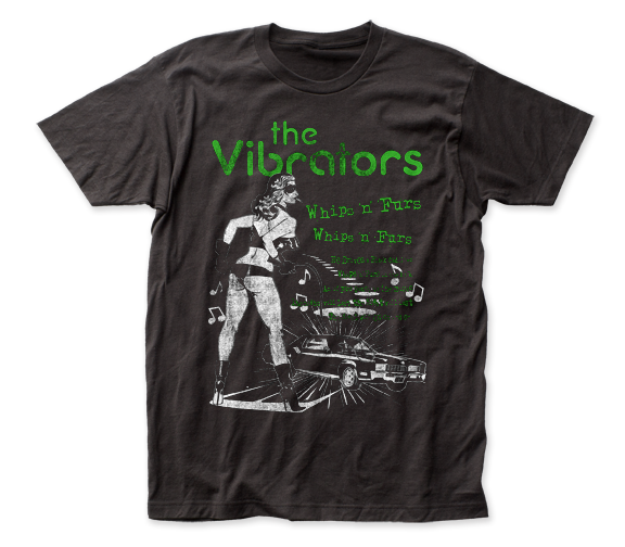 The Vibrators Whips 'n' Furs fitted jersey tee