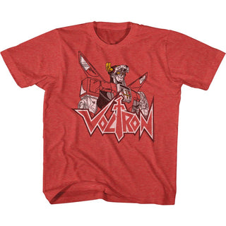 Voltron-Voltron Fade-Vintage Red Toddler-Youth S/S Tshirt - Coastline Mall
