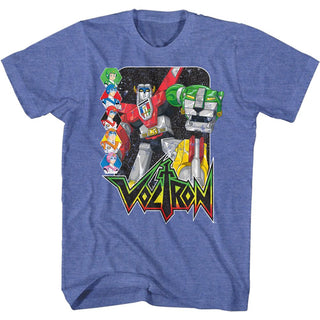 Voltron-Voltron & Pilots-Royal Heather Adult S/S Tshirt - Coastline Mall