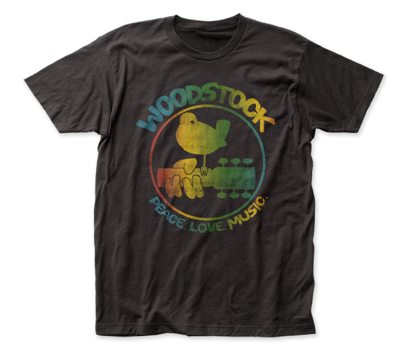 Woodstock Colorful Logo fitted jersey tee