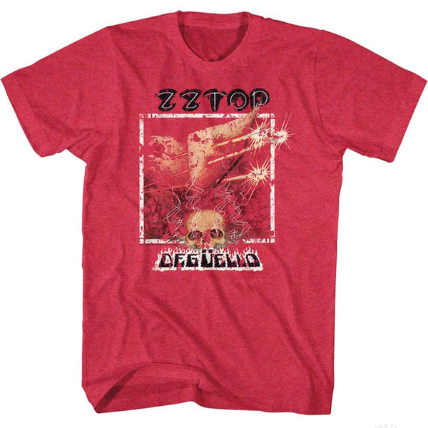 ZZ Top-Deguello-Cherry Heather Adult S/S Tshirt - Coastline Mall