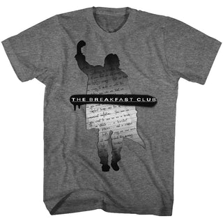 Breakfast Club-Silhouette Note-Graphite Heather Adult S/S Tshirt - Coastline Mall