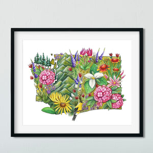 Floral State Art Prints