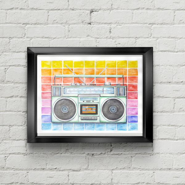Boombox Art Print - June Poppies Designs