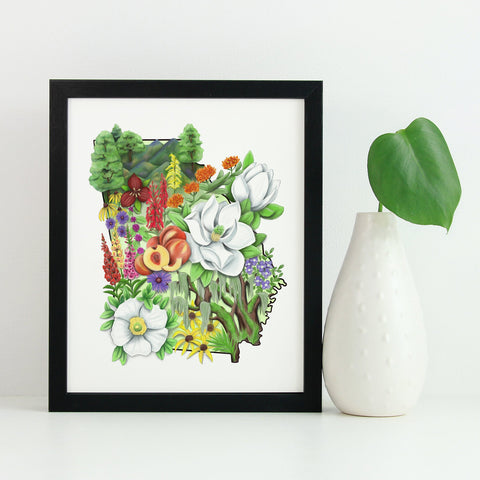 Floral State of Georgia - June Poppies Designs