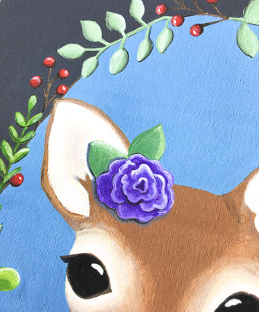 Fawn | Deer Wreath Art Print - June Poppies Designs