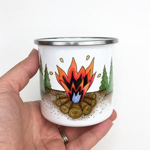 Campfire Enamelware Mug - June Poppies Designs