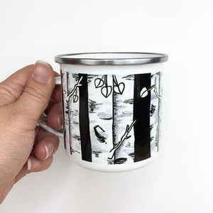 Aspen Trees Enamelware Mug - June Poppies Designs