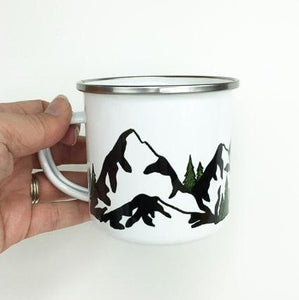 Mountain Enamelware Mug - June Poppies Designs