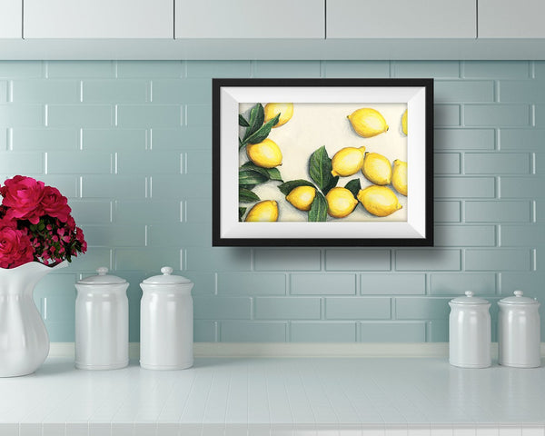 Lemon Art Print - June Poppies Designs