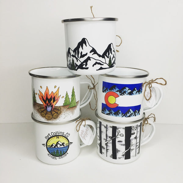 Colorado Flag Enamelware Mug - June Poppies Designs