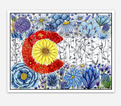 Colorado Flag Vinyl Sticker - June Poppies Designs