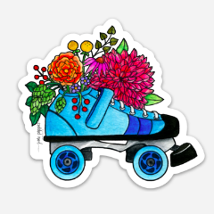 Roller Derby Vinyl Sticker - June Poppies Designs
