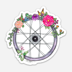 Bike Wheel Vinyl Sticker - June Poppies Designs