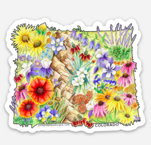 Colorado State Vinyl Sticker - June Poppies Designs