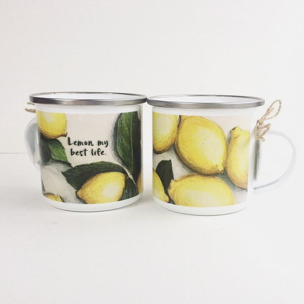 Lemon Enamelware Mug - June Poppies Designs