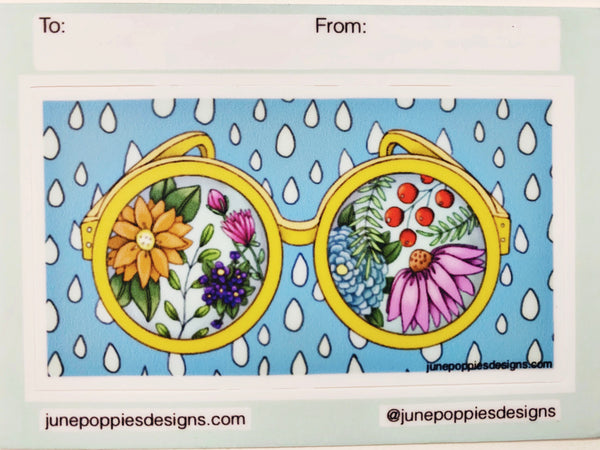 Sunglasses Gift Tag Vinyl Sticker - June Poppies Designs
