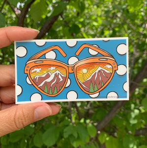Mountain Sunglasses Vinyl Sticker - June Poppies Designs