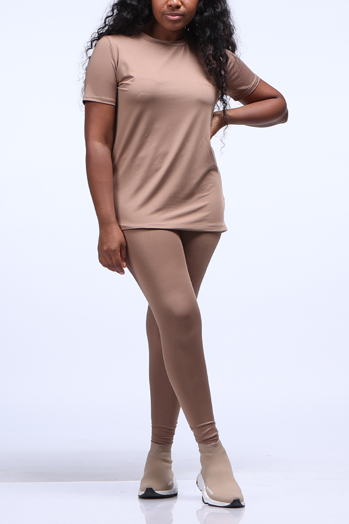 The Essential Legging Set | Mocha (Up To 3X)