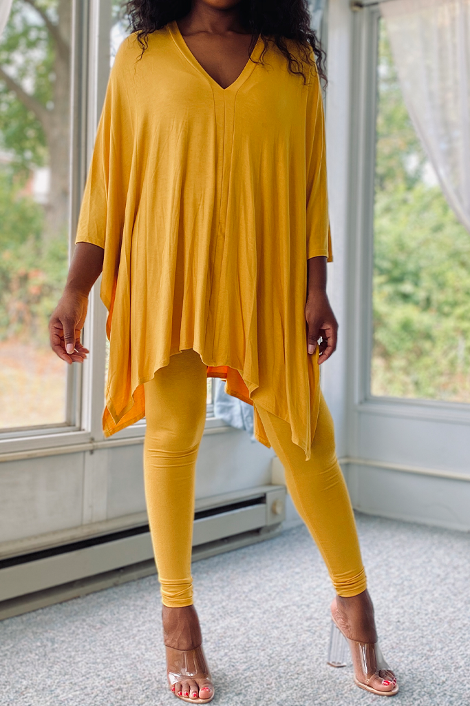 Windy City | Mustard Legging Set