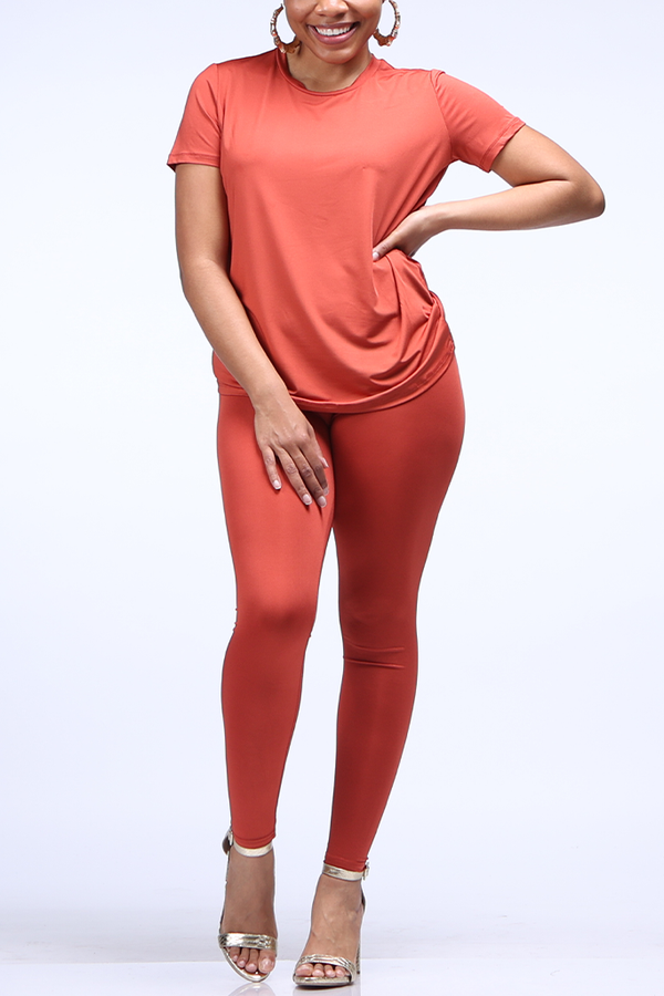 The Essential Legging Set | Rust