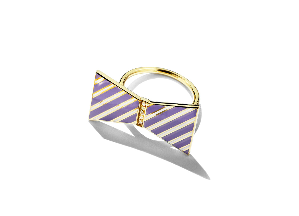 Bow Ring - Lavender