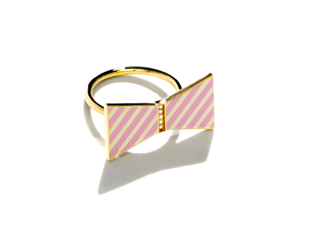 Bow Ring - Pink