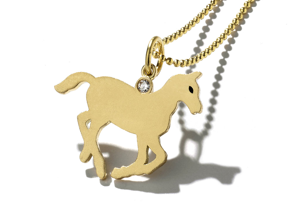 """Galaxie"" Gold Pony Necklace"