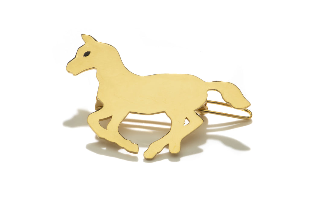 Gold Pony Barrette