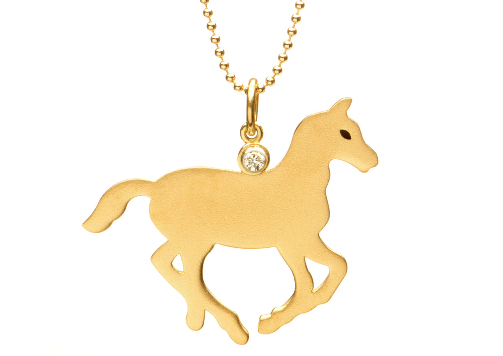 Gold Pony Necklace